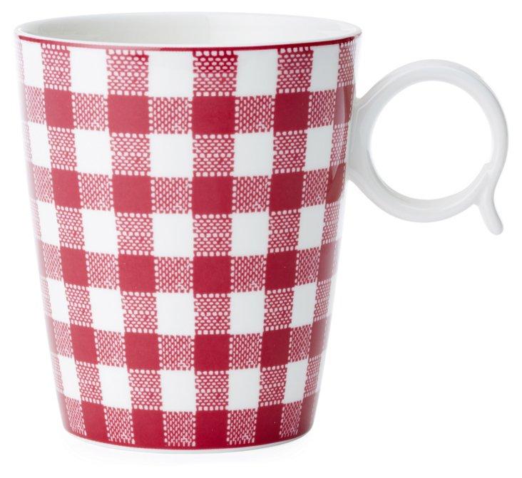 S/4 Checkered Mugs, Purple