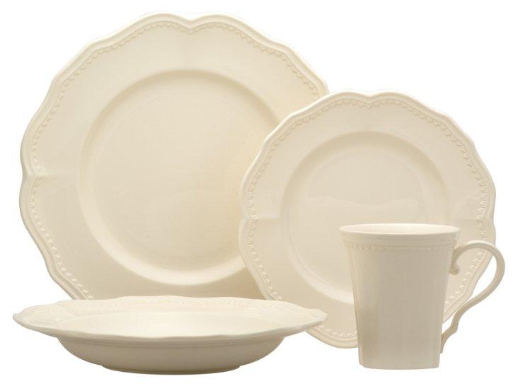 16-Pc Classic Dinnerware Set, White