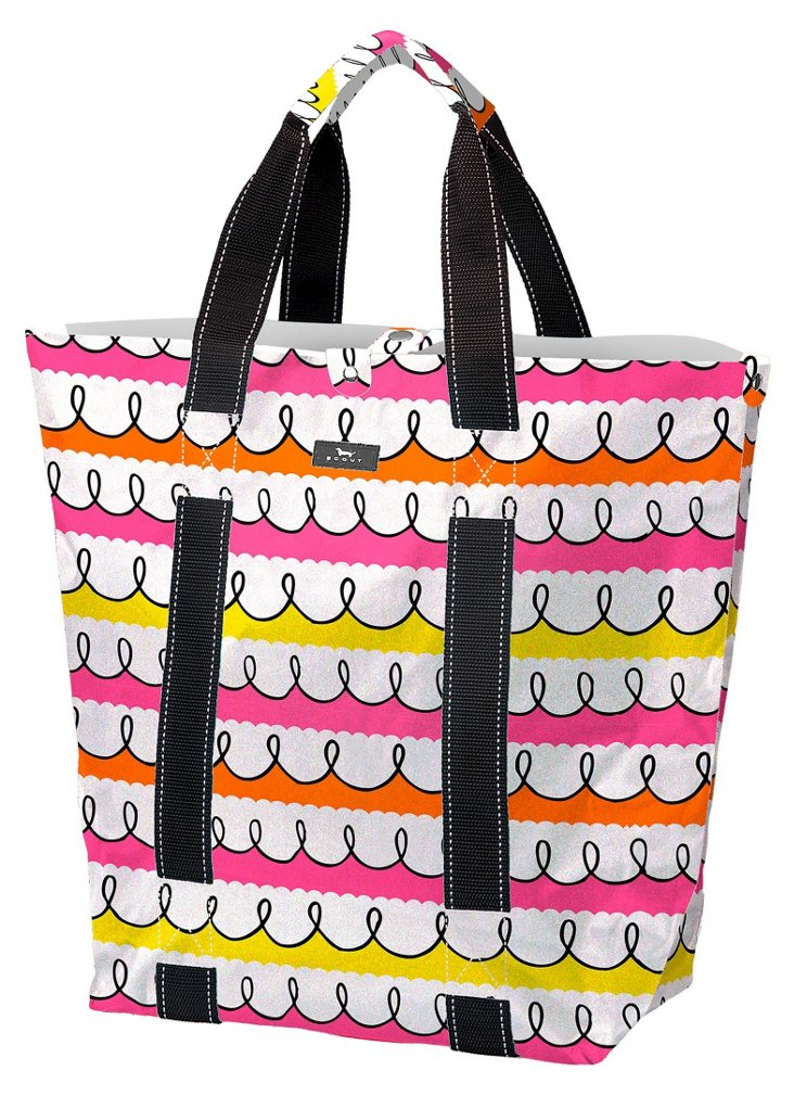 North/South Tote, Pink Swirl