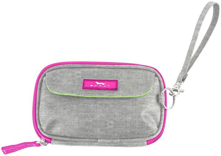 Zipper Wristlet, Gray