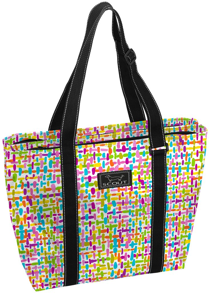 Double Zipper Tote, Geo