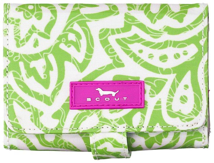 Wallet w/ Snap Closure, Green Paisley