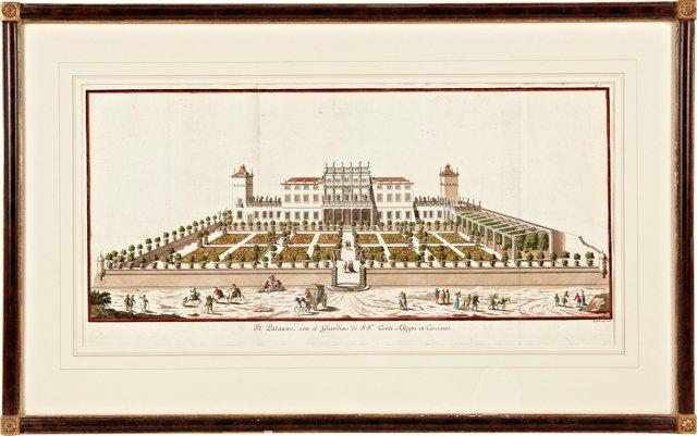 Engraving of Parterre Garden Plan
