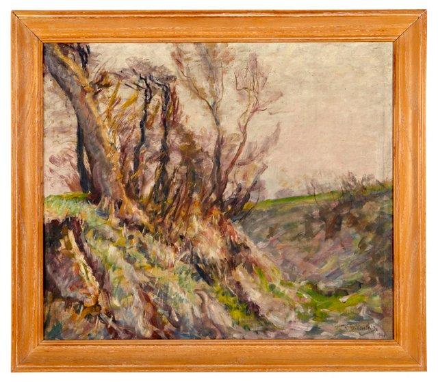 R. Falkenberg Oil, Windy Landscape