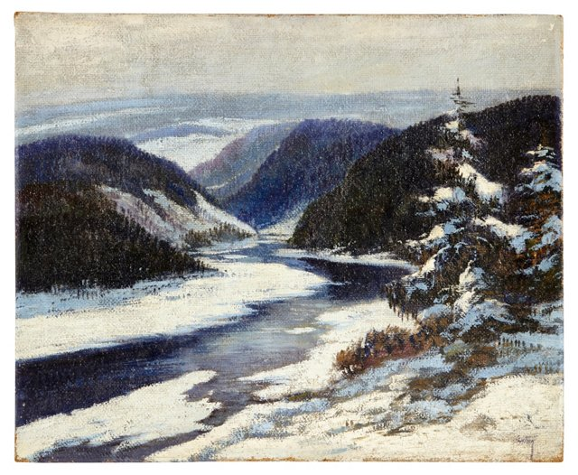 Snowy River Oil on Canvas