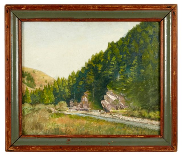 Oil Painting, Mountain Stream