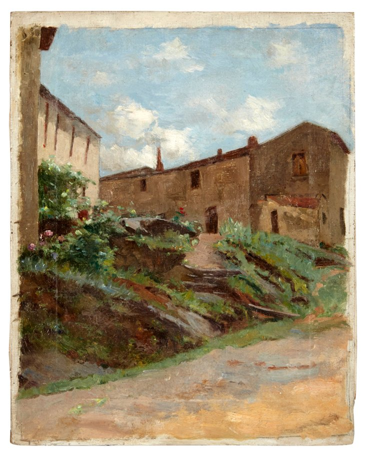 Oil Painting, Village View
