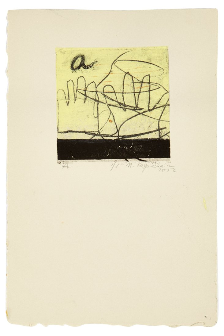 Monotype Print, Letter A