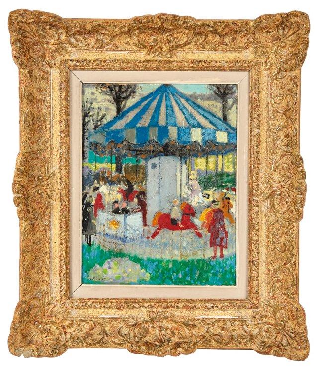 Carousel in Champs-Élysées Gardens