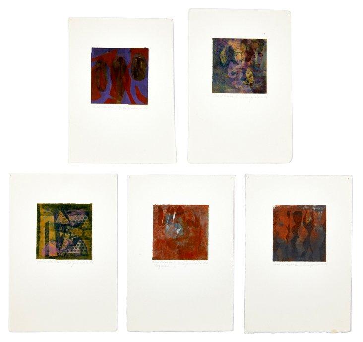 Monotypes, N. Karpinskaia, Set of 5
