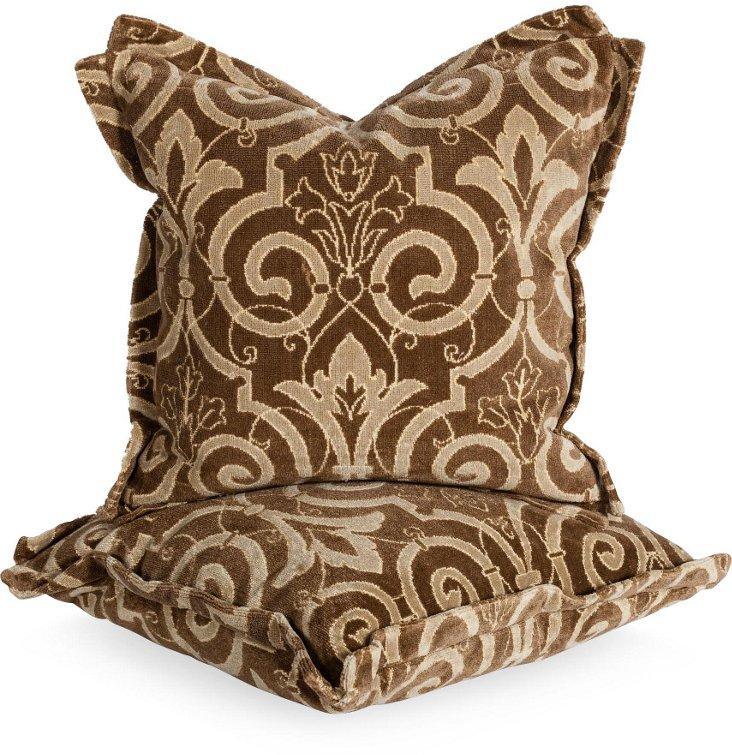 Velours Chatelaine Pillows, Pair