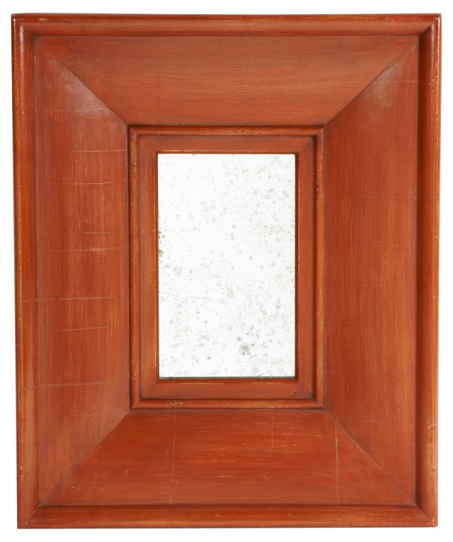 Red Frame Mirror