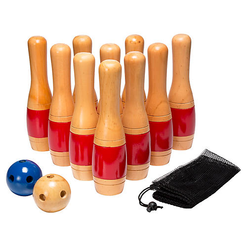 "11"" Wooden Bowling Set"