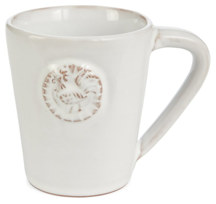 S/4 Terracotta Rooster Mugs