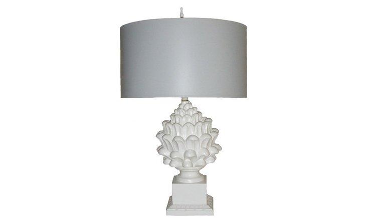 Artichoke Table Lamp, Gray