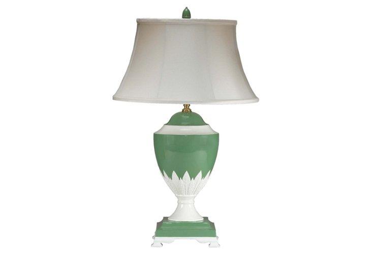 The Regent Porcelain Lamp, Green