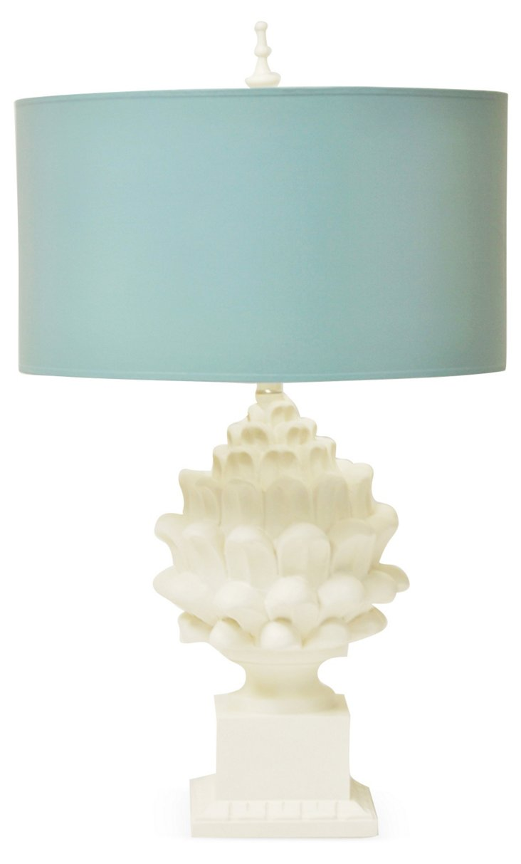 Artichoke Table Lamp, Turquoise Twist