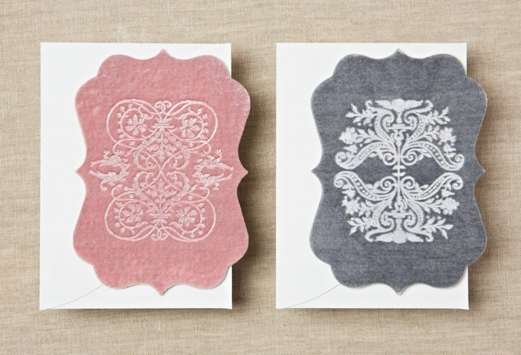 S/6 Echocards, Pink & Dove