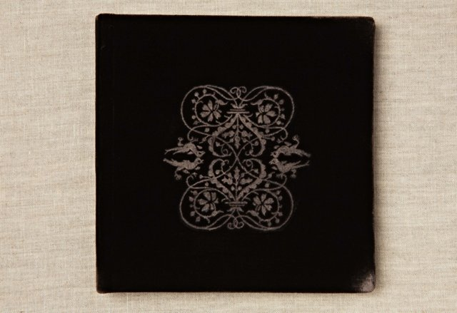 """7"""" Heart Filigree Photo Album, Chocolate"""