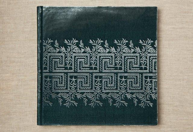 "10"" Greek Floral Photo Album, Tourmaline"