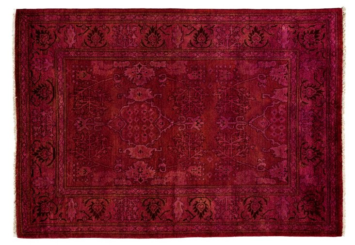 """4'2""""x6' Cornell Rug, Red"""
