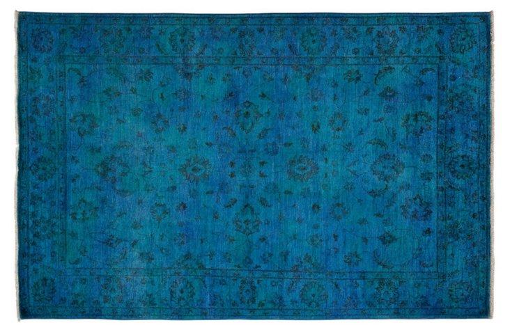 """6'5""""x9'6"""" Phelan Rug, Blue"""