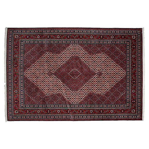 """7'x10'6"""" Mus Flat-Weave Rug, Red"""