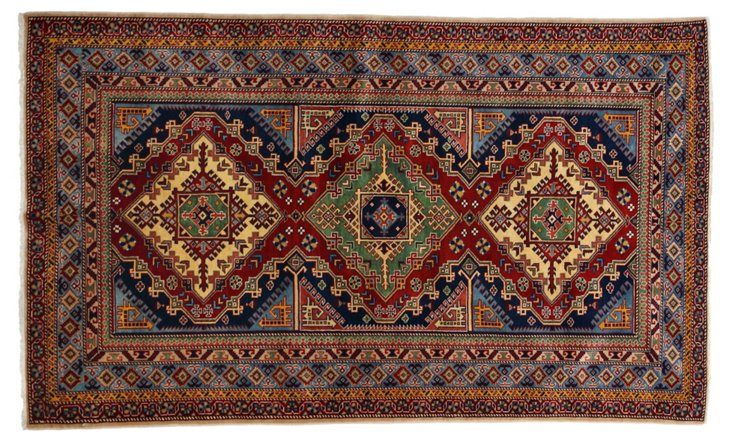 "4'8""x7'4"" Halfa Rug, Blue/Multi"