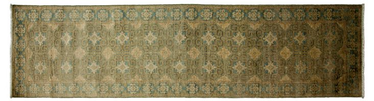 "2'6""x9'10"" Kitto Runner, Light Blue"