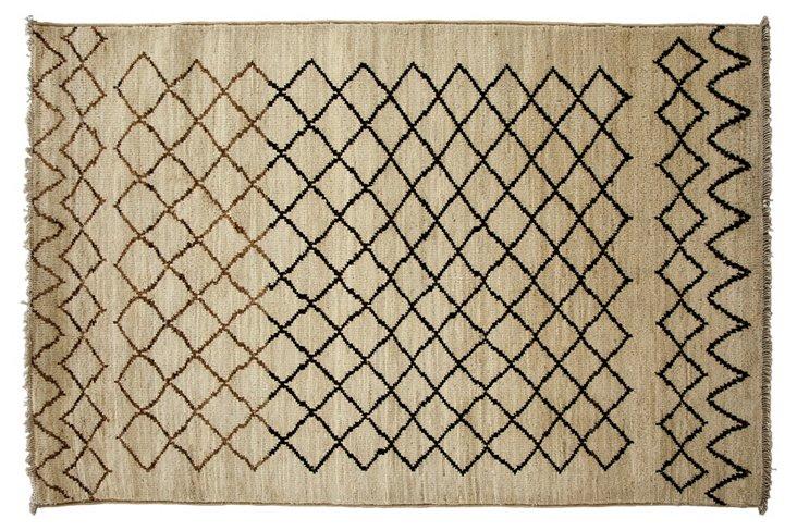 4'x6' Fisk Rug, Ivory