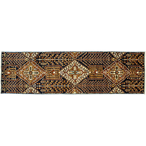 "3'8""x12'2"" Serapi Runner, Brown/Multi"