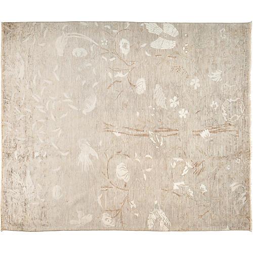 "8'x9'8"" Vibrance Rug, Gray/Ivory"