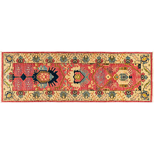 "2'7""x8'2"" Eclectic Runner, Red"
