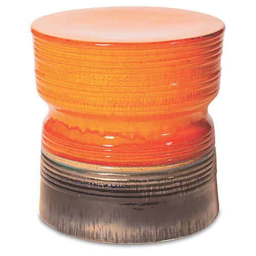 Zurich Ceramic Stool, Orange
