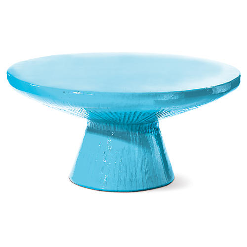 Kavis Outdoor Coffee Table, Turquoise