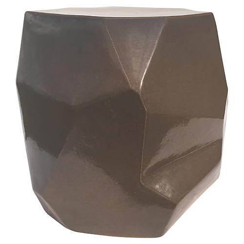 Geo Outdoor Side Table, Taupe