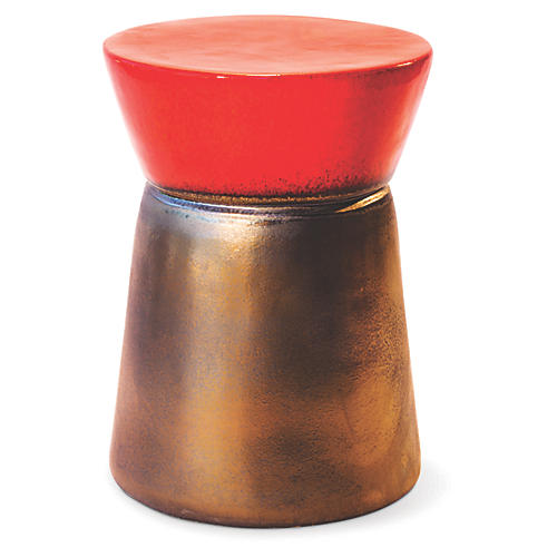 Cork Outdoor Side Table, Red