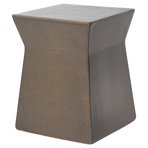 Ashlar Outdoor Side Table, Taupe