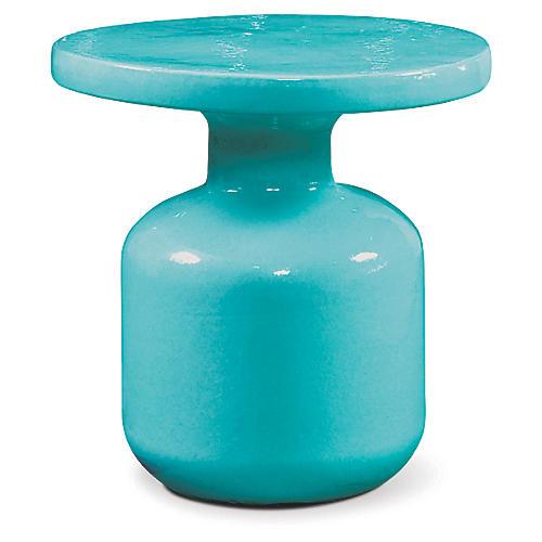 Bottle Outdoor Side Table, Aqua Marine