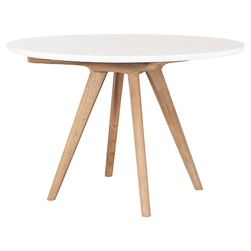 Viola Concrete Dining Table, Pearl