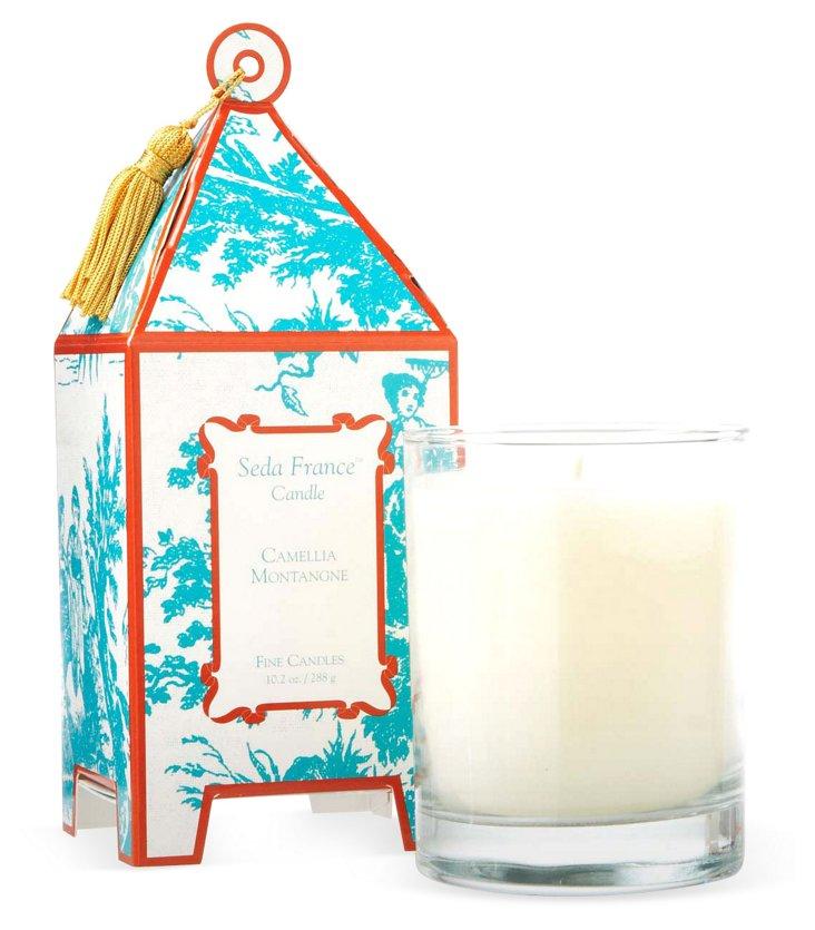 10 oz Pagoda Candle, Camellia Montagne