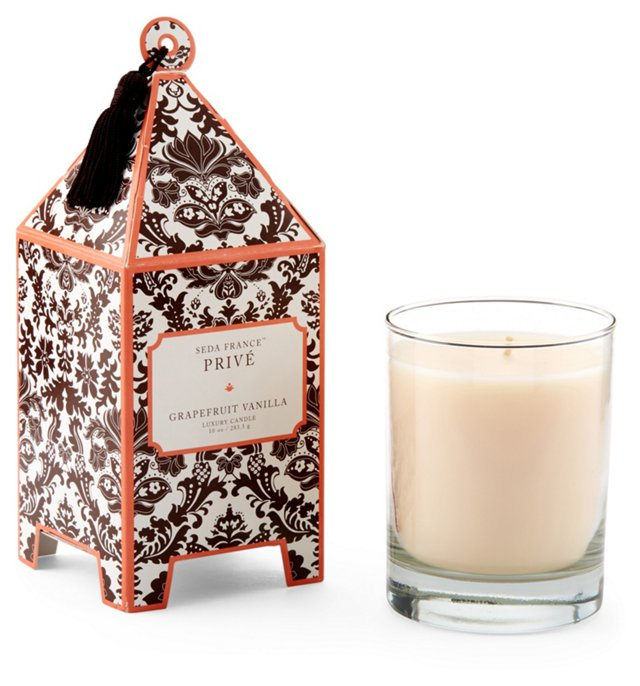 Pagoda Candles, Grapefruit Vanilla