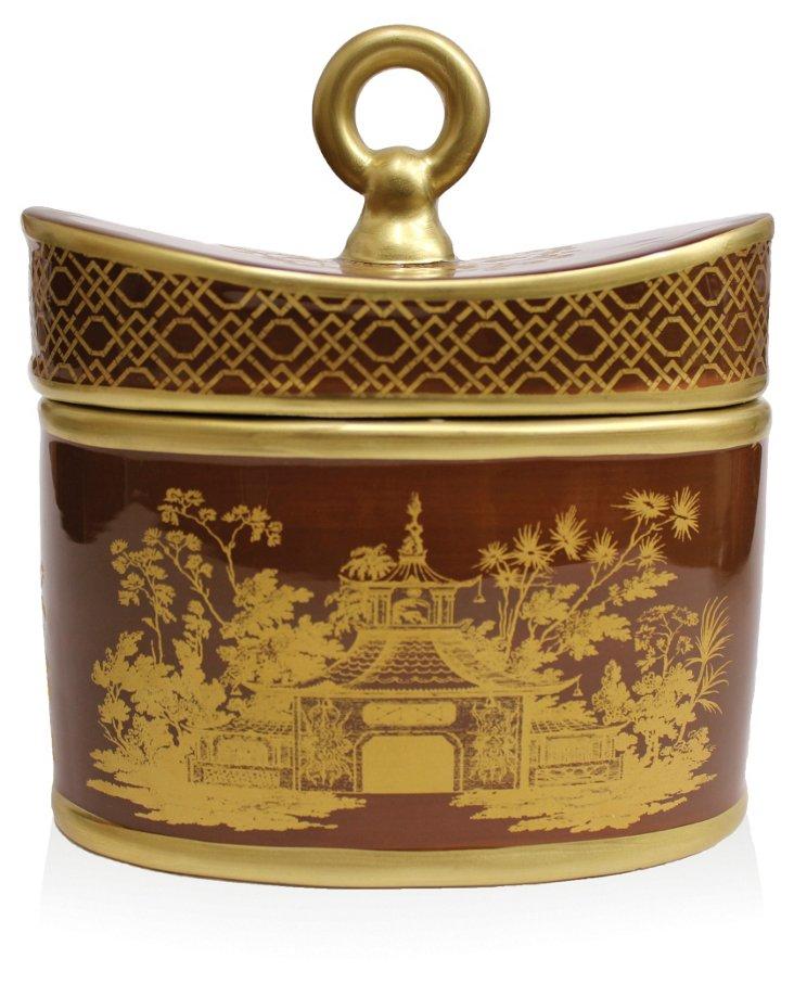 20 oz Ceramic Candle, Pomme Marais