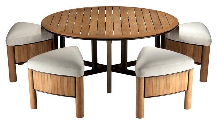DNU, Dis Bronzewood Table & Stools