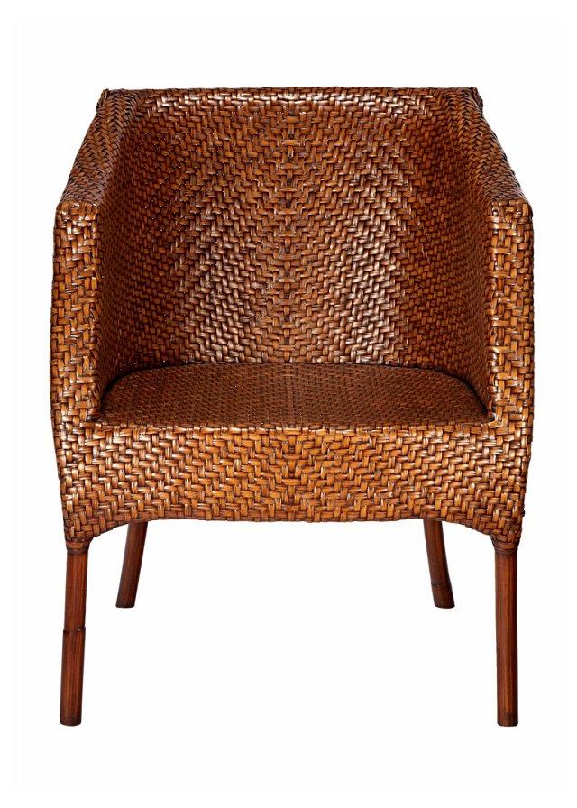 Madeline Rattan Chair, Cinnamon
