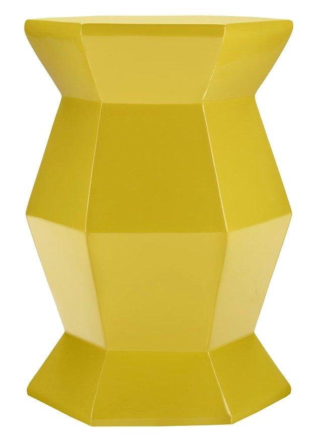 Mila Hexagonal Table, Lemon