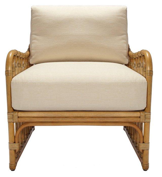 Ella Rattan Lounge Chair, Nutmeg