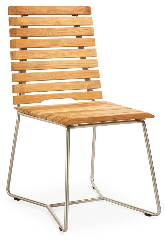 Freeman Outdoor Dining Chair, Teak