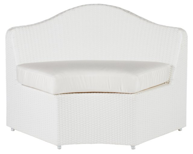 Dupont Outdoor Lounge Chair, White