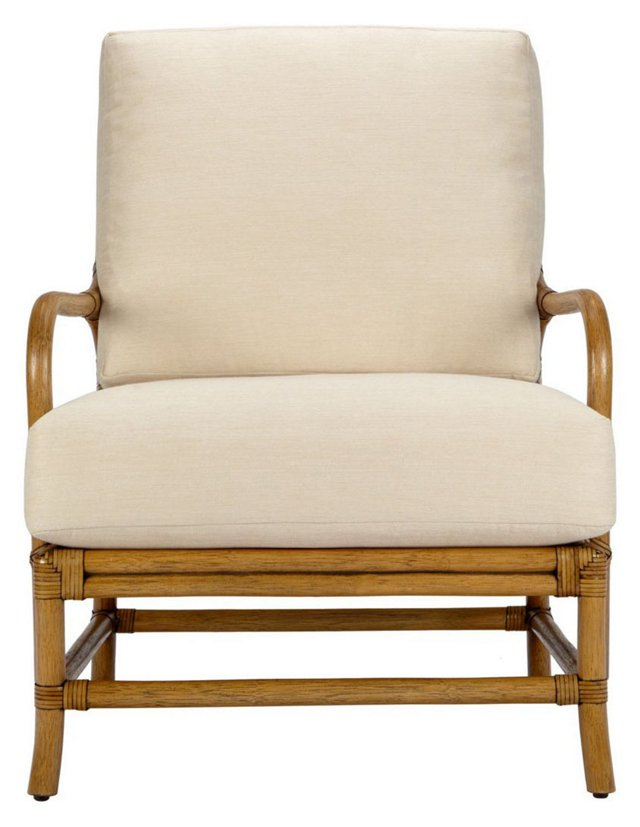 Ava Rattan Lounge Chair, Nutmeg